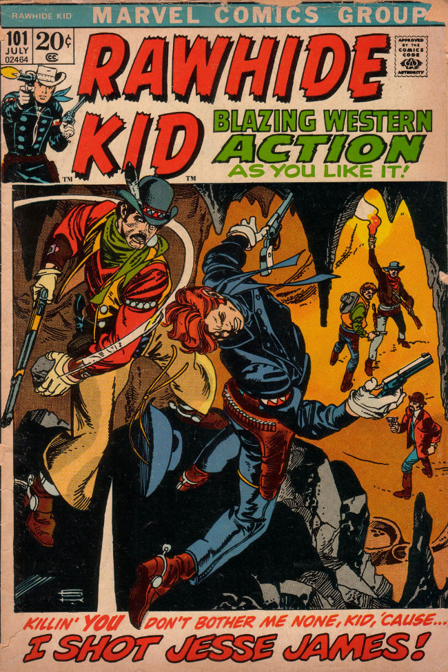 Couverture de Rawhide Kid Vol.1 (Atlas/Marvel - 1955) -101- I Shot Jesse James!