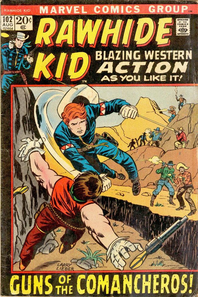Couverture de Rawhide Kid Vol.1 (Atlas/Marvel - 1955) -102- Guns of the Comancheros!