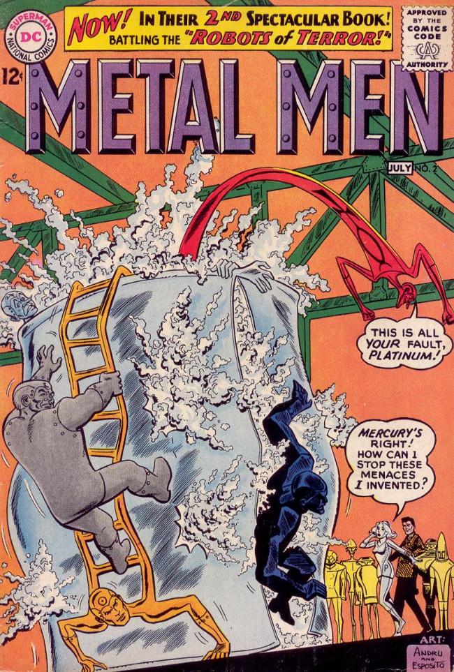 Couverture de Metal Men Vol.1 (DC Comics - 1963) -2- Robots of Terror!