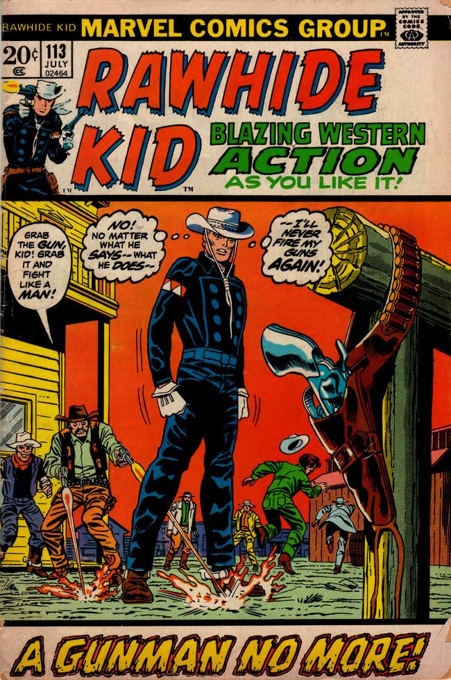 Couverture de Rawhide Kid Vol.1 (Atlas/Marvel - 1955) -113- A Gunman No More!