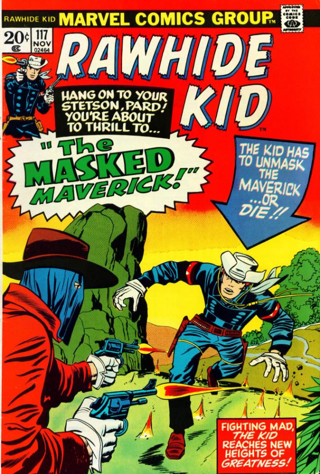 Couverture de Rawhide Kid Vol.1 (Atlas/Marvel - 1955) -117- The Masked Maverick!
