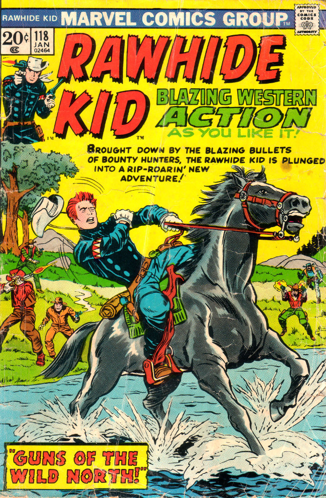 Couverture de Rawhide Kid Vol.1 (Atlas/Marvel - 1955) -118- Guns of the Wild North!