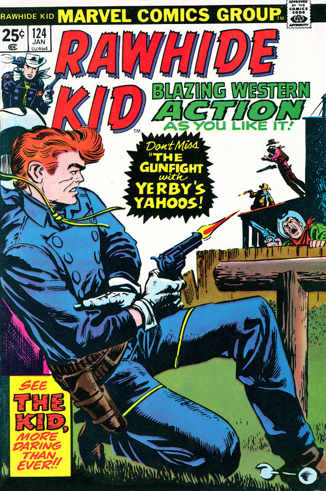 Couverture de Rawhide Kid Vol.1 (Atlas/Marvel - 1955) -124- The Gunfight with Yerby's Yahoos!