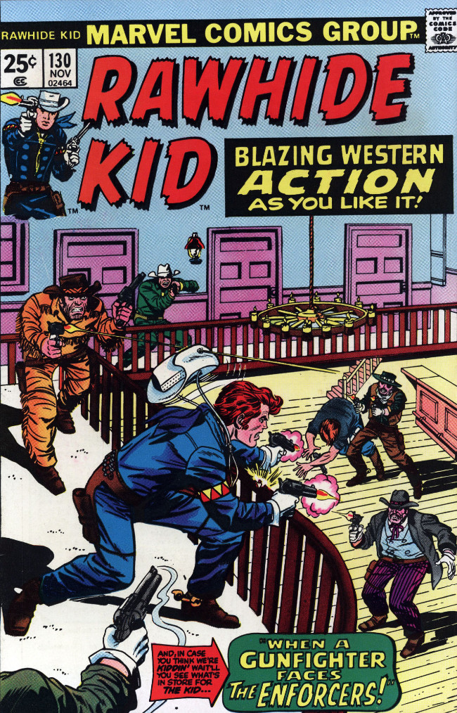 Couverture de Rawhide Kid Vol.1 (Atlas/Marvel - 1955) -130- When a Gunfighter Faces the Enforcers!
