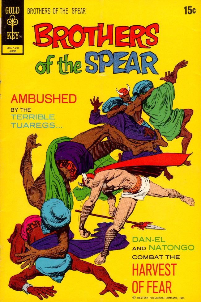Couverture de Brothers of the Spear (Gold Key - 1972) -1- Harvest of Fear