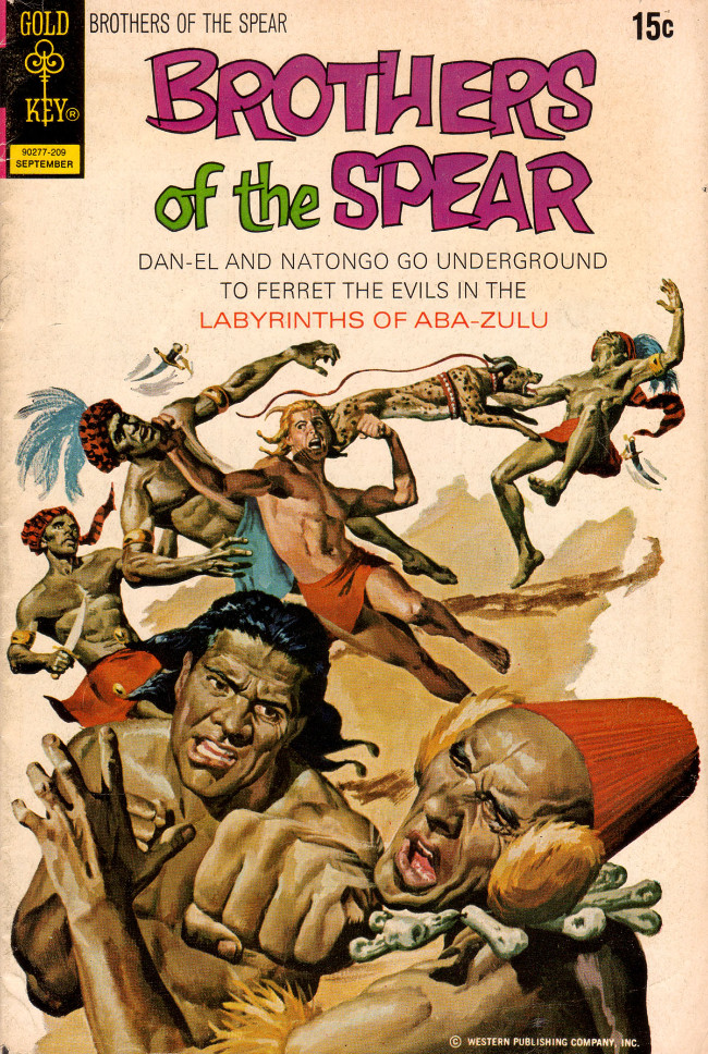 Couverture de Brothers of the Spear (Gold Key - 1972) -2- Labyrinths of Aba-Zulu