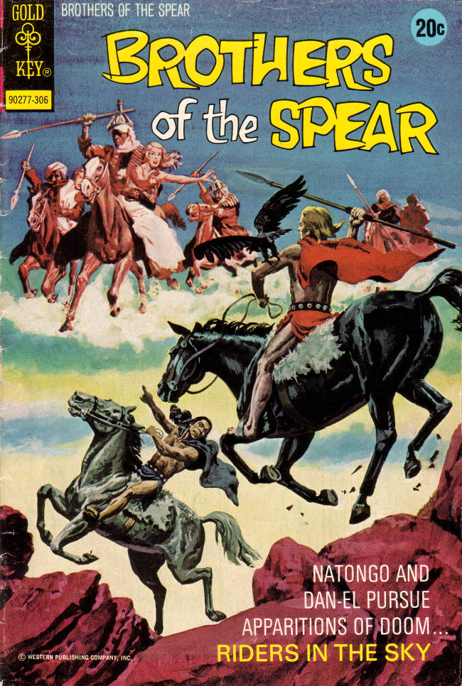 Couverture de Brothers of the Spear (Gold Key - 1972) -5- Riders in the Sky
