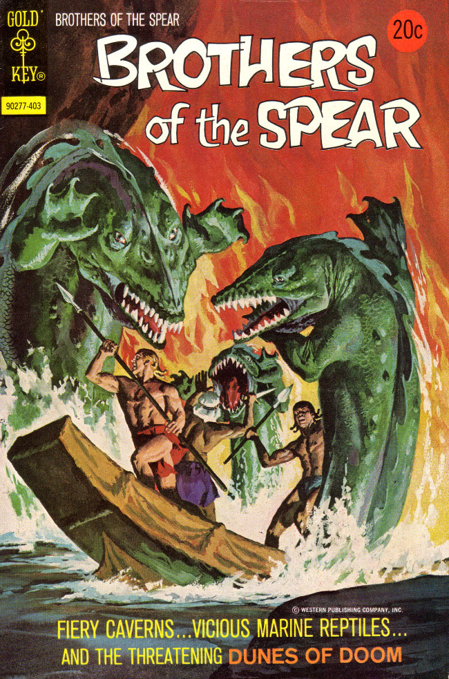 Couverture de Brothers of the Spear (Gold Key - 1972) -8- Dunes of Doom