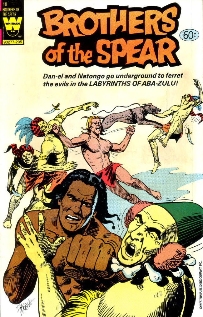 Couverture de Brothers of the Spear (Gold Key - 1972) -18- Labyrinths of Aba-Zulu!