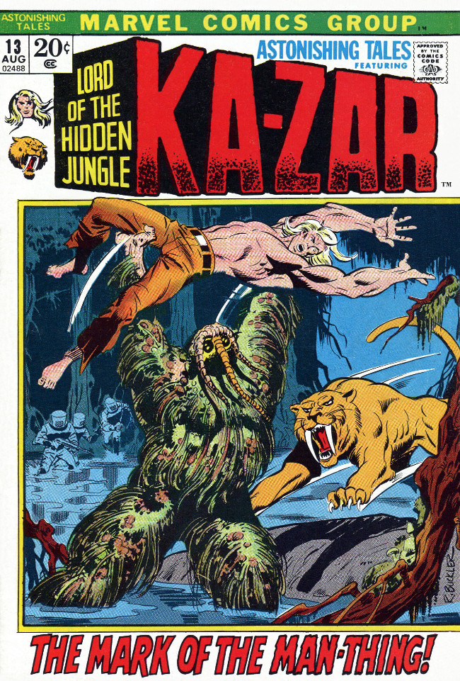 Couverture de Astonishing tales Vol.1 (Marvel - 1970) -13- The Mark of the Man-Thing!