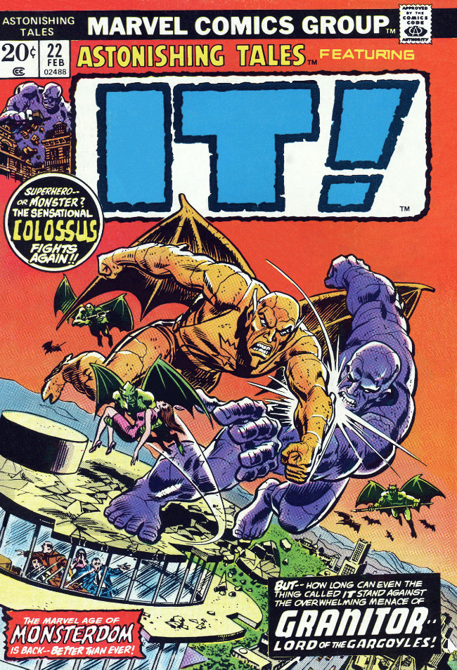 Couverture de Astonishing tales Vol.1 (Marvel - 1970) -22- It! : Granitor--Lord of the Gargoyles!