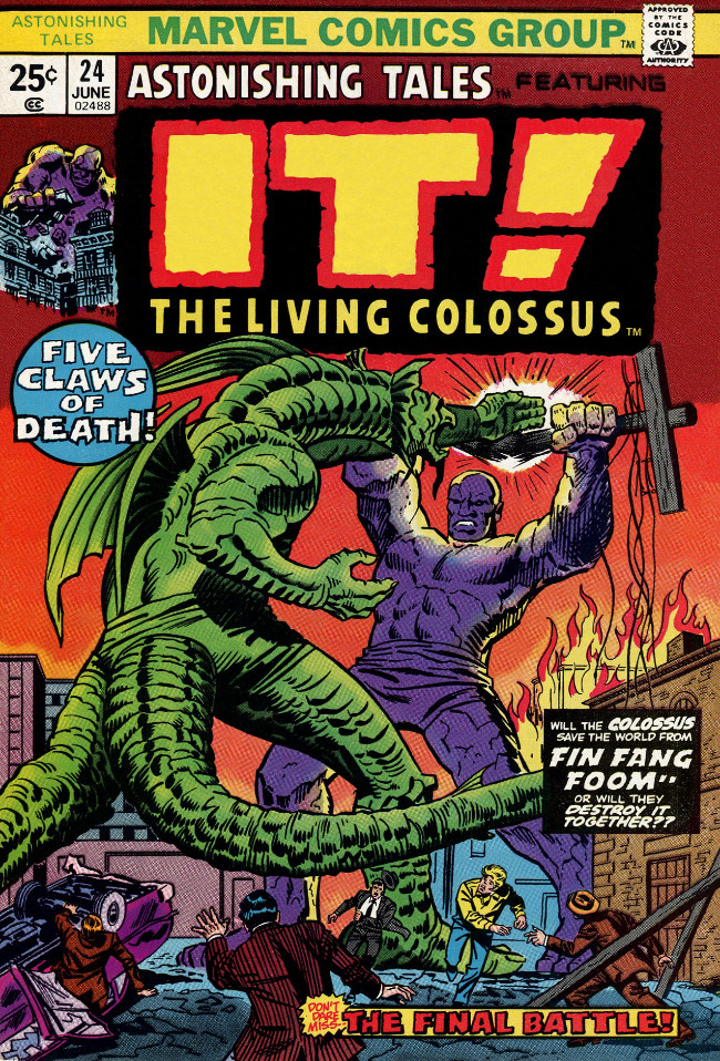 Couverture de Astonishing tales Vol.1 (Marvel - 1970) -24- It! : Five Claws of Death!