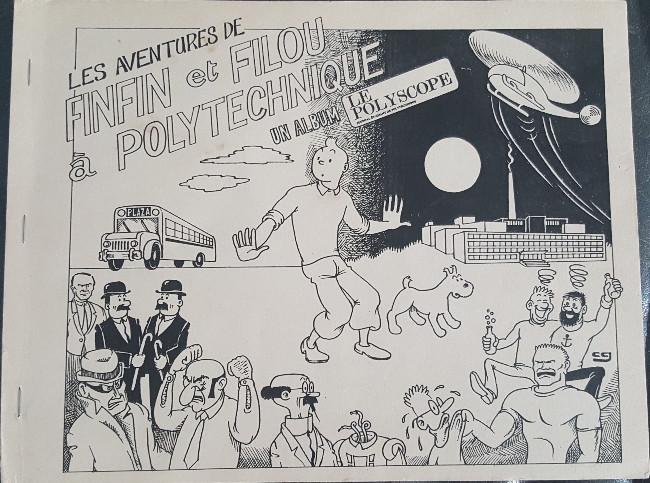 Couverture de Tintin - Pastiches, parodies & pirates - Les Aventures de Finfin et Filou à Polytechnique