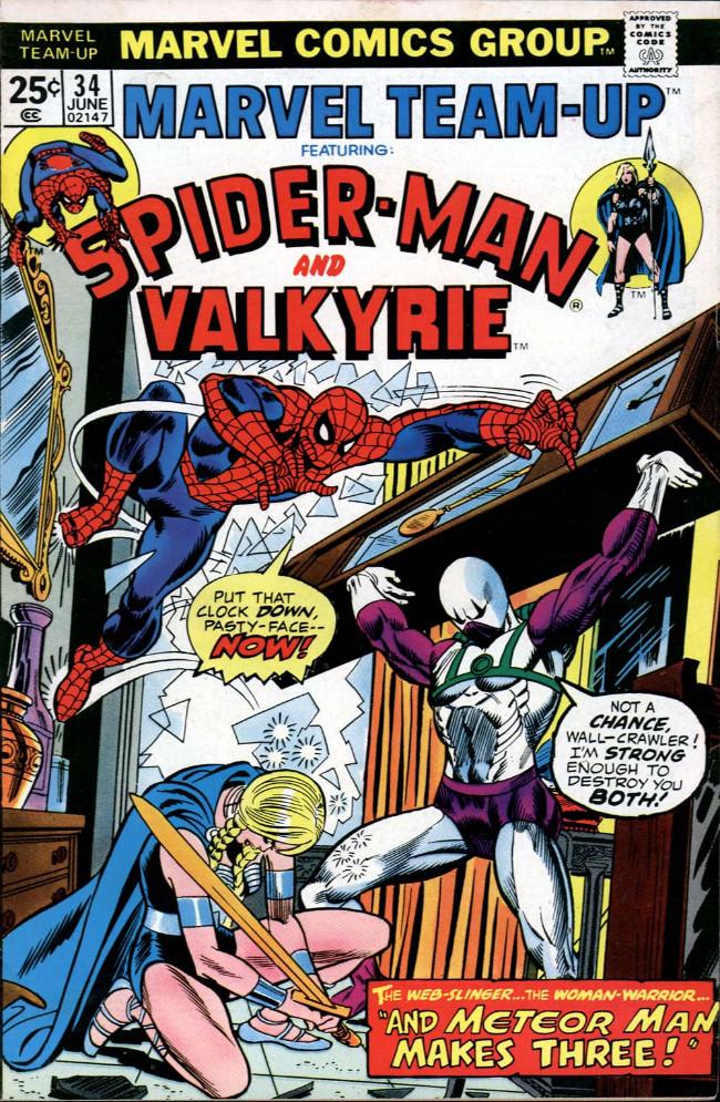 Couverture de Marvel Team-Up Vol.1 (Marvel comics - 1972) -34- And Meteor Man Makes Three!