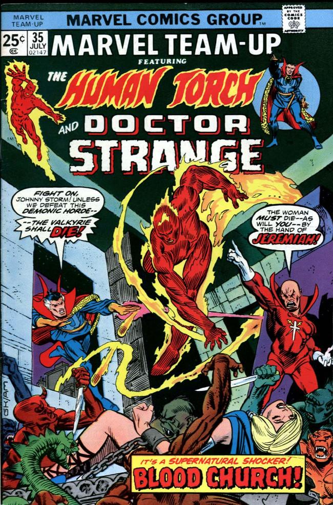 Couverture de Marvel Team-Up Vol.1 (Marvel comics - 1972) -35- Blood Church!