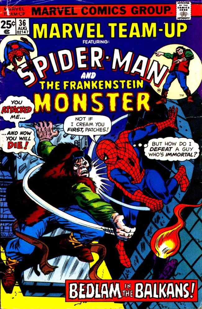 Couverture de Marvel Team-Up Vol.1 (Marvel comics - 1972) -36- Bedlam in the Balkans!