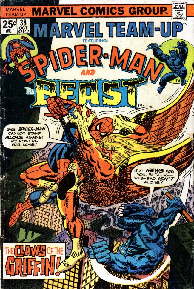 Couverture de Marvel Team-Up Vol.1 (Marvel comics - 1972) -38- The Claws of the Griffin!