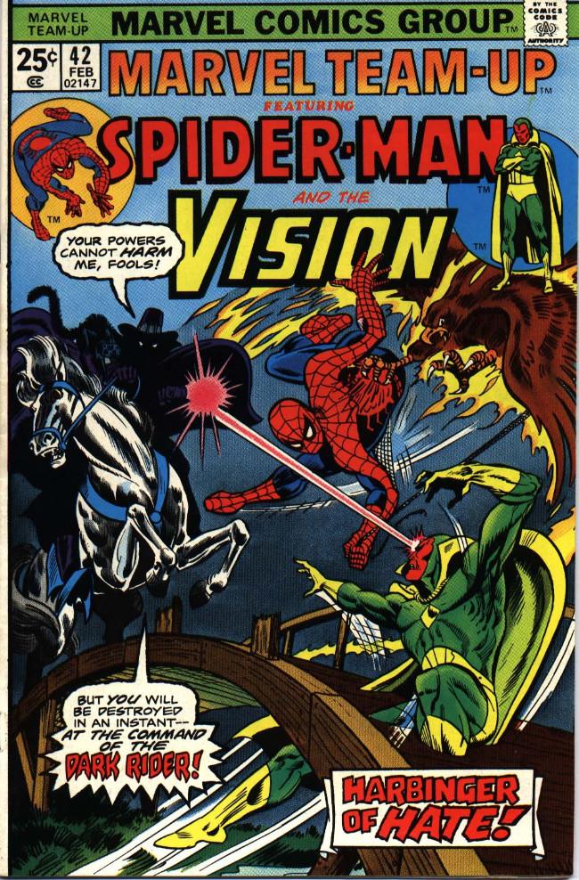Couverture de Marvel Team-Up Vol.1 (Marvel comics - 1972) -42- Harbinger of Hate!