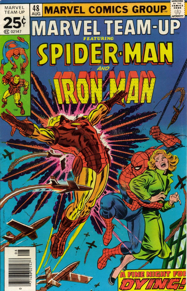 Couverture de Marvel Team-Up Vol.1 (Marvel comics - 1972) -48- A Fine Night for Dying!