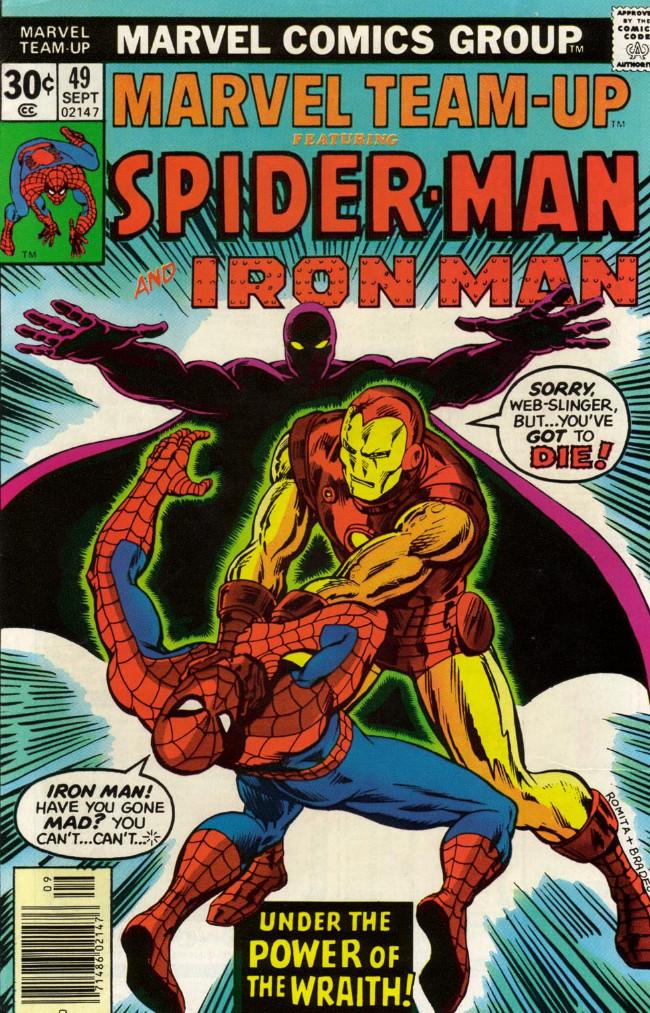 Couverture de Marvel Team-Up Vol.1 (Marvel comics - 1972) -49- Under the Power of the Wraith!