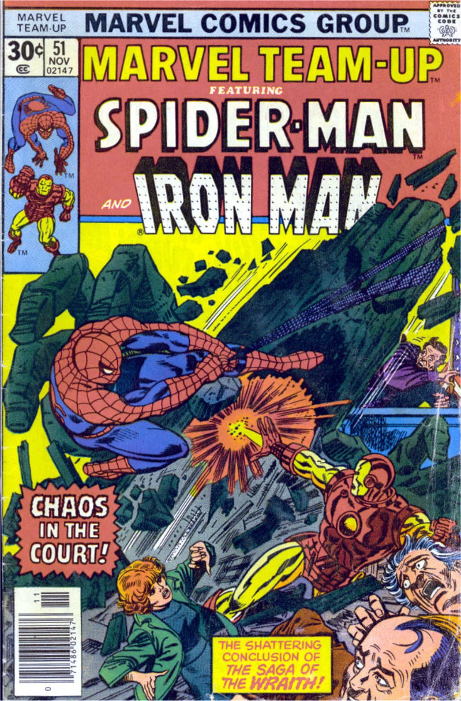 Couverture de Marvel Team-Up Vol.1 (Marvel comics - 1972) -51- Chaos in the Court!