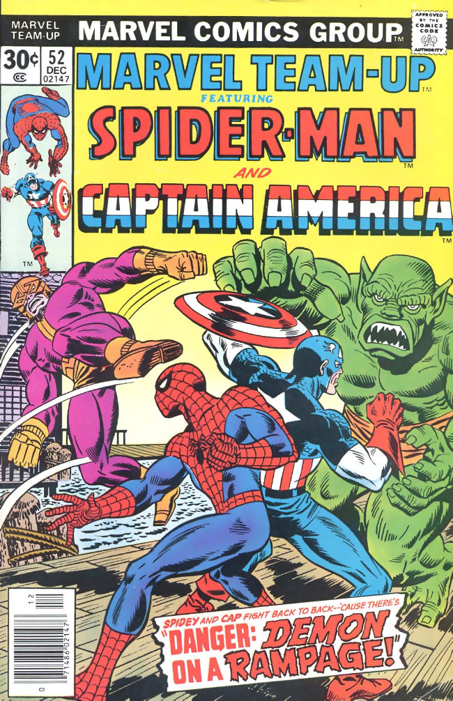 Couverture de Marvel Team-Up Vol.1 (Marvel comics - 1972) -52- Danger: Demon on a Rampage!