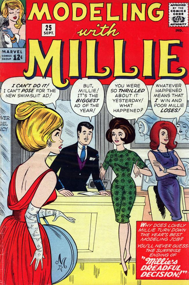 Couverture de Modeling with Millie (Marvel Comics - 1963) -25- Millie's Dreadful Decision!