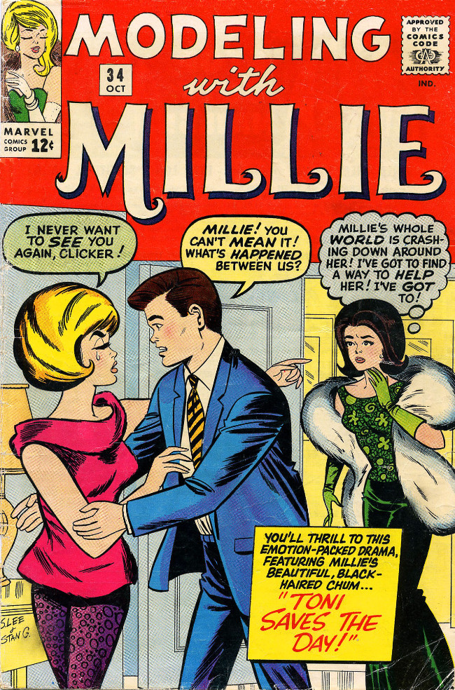 Couverture de Modeling with Millie (Marvel Comics - 1963) -34- Toni Saves the Day!