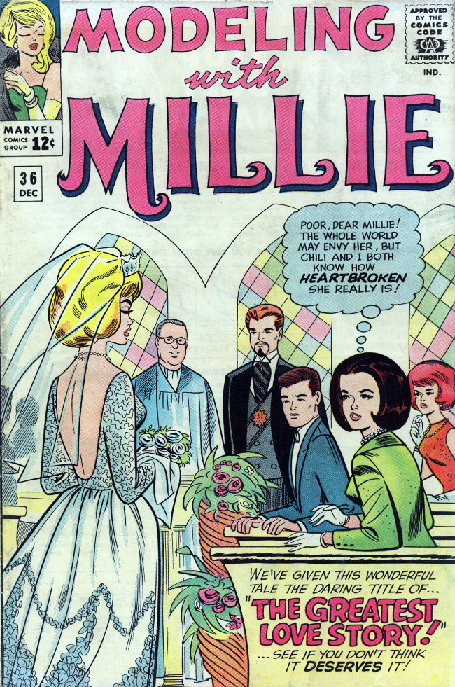 Couverture de Modeling with Millie (Marvel Comics - 1963) -36- The Greatest Love Story!