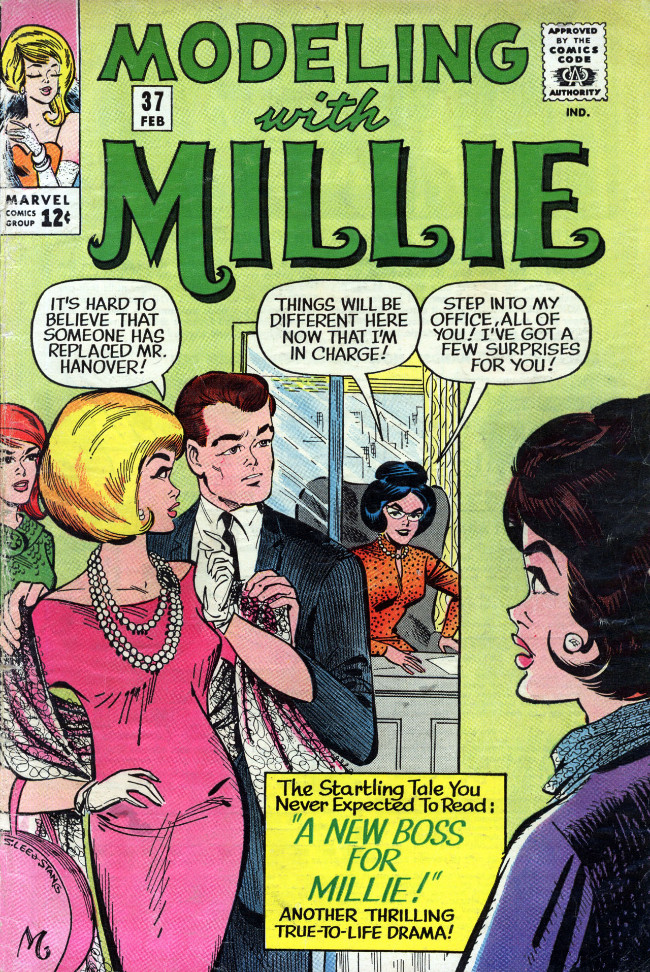 Couverture de Modeling with Millie (Marvel Comics - 1963) -37- A New Boss for Millie!