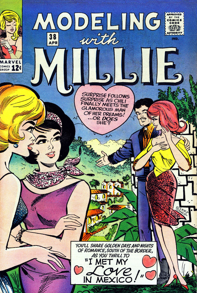 Couverture de Modeling with Millie (Marvel Comics - 1963) -38- I Met My Love in Mexico!