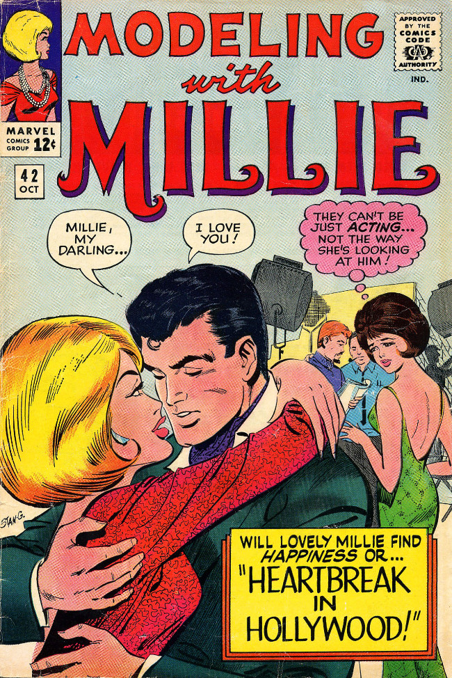 Couverture de Modeling with Millie (Marvel Comics - 1963) -42- Heartbreak in Hollywood!