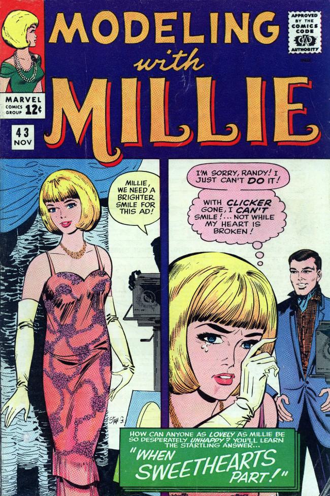 Couverture de Modeling with Millie (Marvel Comics - 1963) -43- When Sweethearts Part!