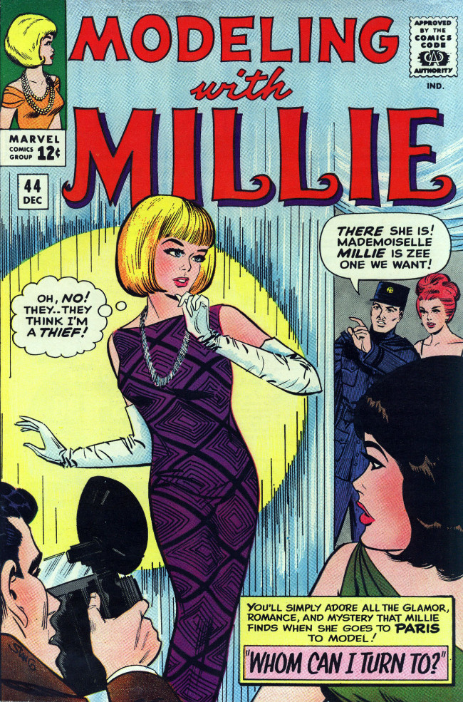 Couverture de Modeling with Millie (Marvel Comics - 1963) -44- Whom Can I Turn To?