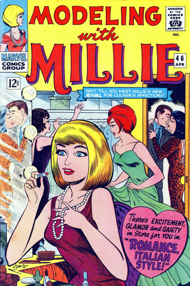 Couverture de Modeling with Millie (Marvel Comics - 1963) -46- Romance, Italian Style!