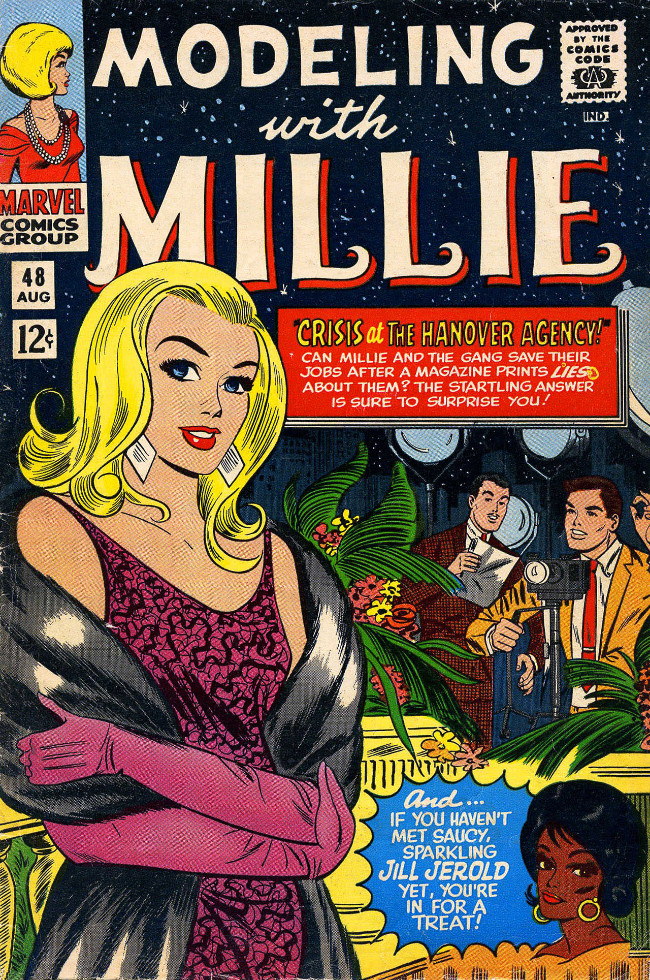 Couverture de Modeling with Millie (Marvel Comics - 1963) -48- Crisis at the Hanover Agency!