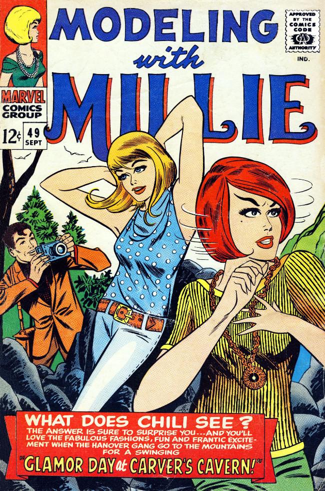 Couverture de Modeling with Millie (Marvel Comics - 1963) -49- Glamor Day at Carver's Cavern!