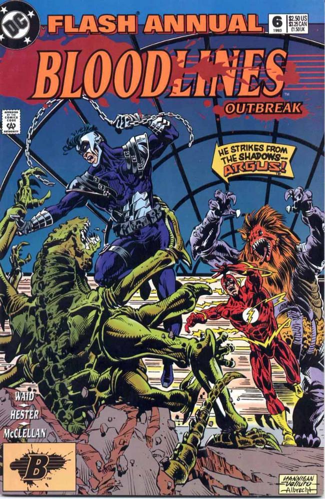 Couverture de Flash Annuals (The) (DC Comics - 1987 series) -AN06- Bloodlines Outbreak