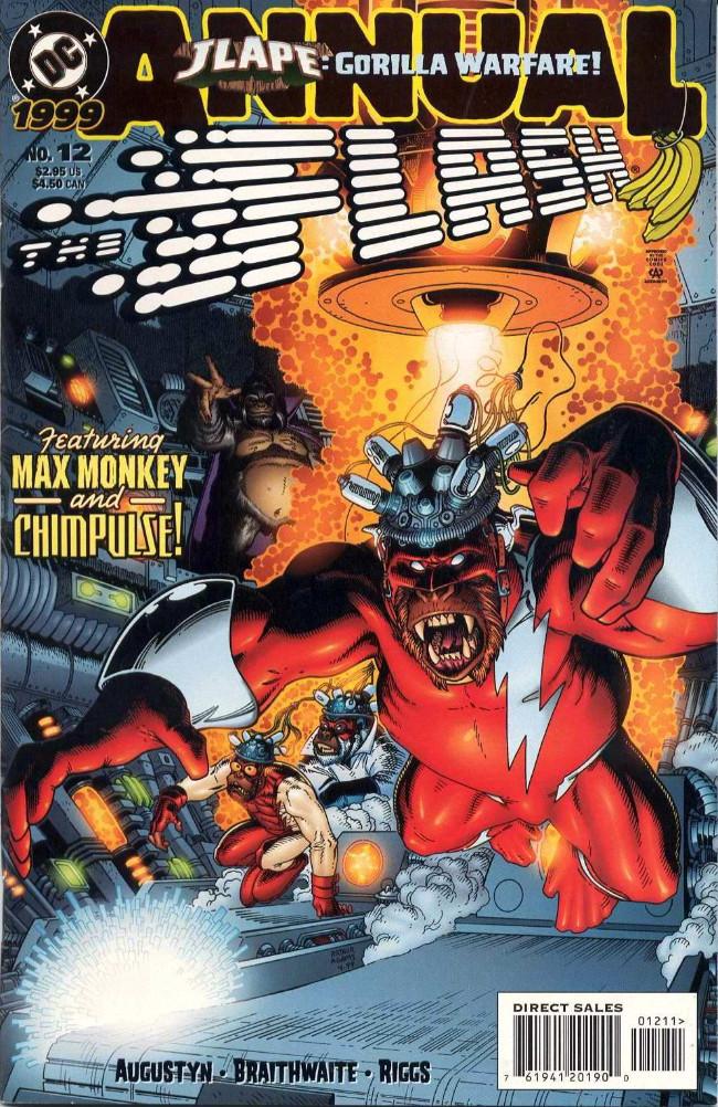 Couverture de Flash Annuals (The) (DC Comics - 1987 series) -AN12- JLApe: Gorilla Warfare! [Part 5 of 8]