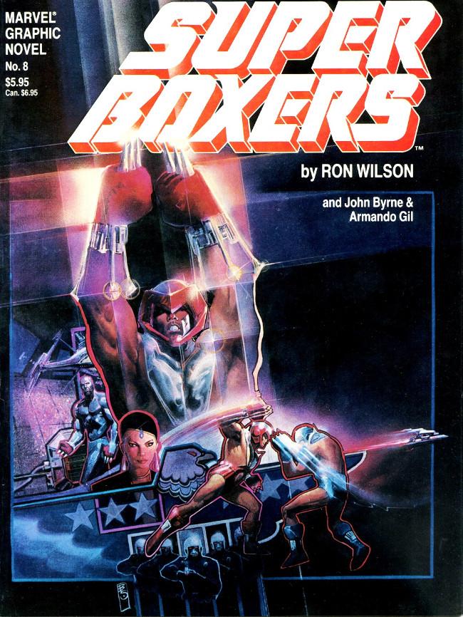 Couverture de Marvel Graphic Novel (Marvel comics - 1982) -8- Super Boxers