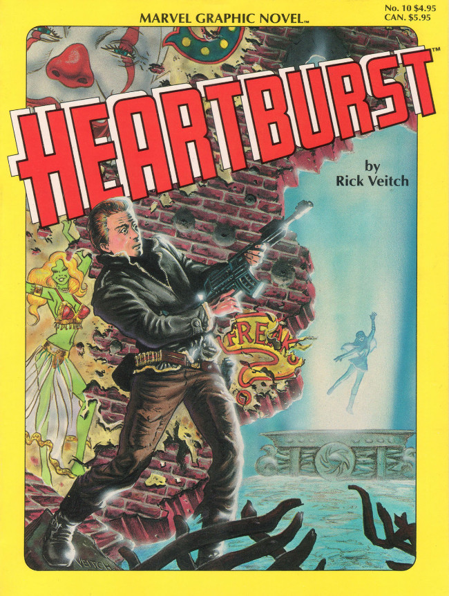 Couverture de Marvel Graphic Novel (Marvel comics - 1982) -10- Heartburst