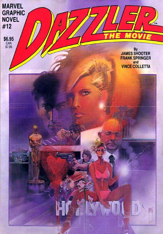Couverture de Marvel Graphic Novel (Marvel comics - 1982) -12- Dazzler: The Movie