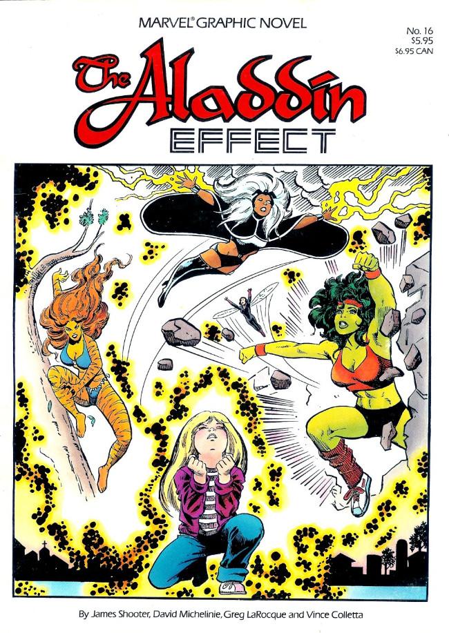 Couverture de Marvel Graphic Novel (Marvel comics - 1982) -16- The Aladdin Effect