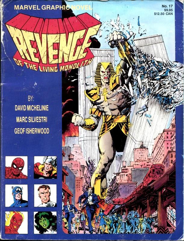 Couverture de Marvel Graphic Novel (Marvel comics - 1982) -17- Revenge of the Living Monolith