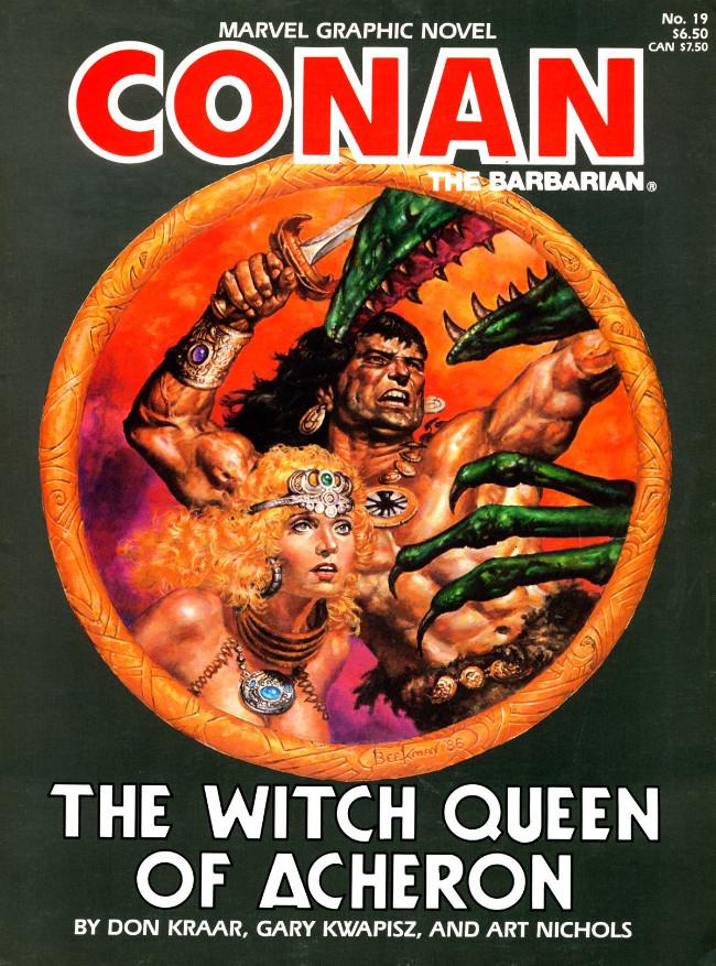 Couverture de Marvel Graphic Novel (Marvel comics - 1982) -19- The Witch Queen of Acheron
