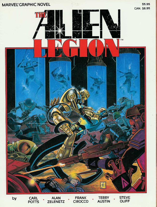 Couverture de Marvel Graphic Novel (Marvel comics - 1982) -25- The Alien Legion