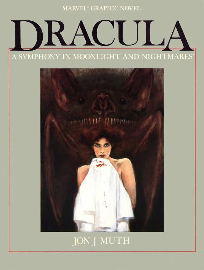 Couverture de Marvel Graphic Novel (Marvel comics - 1982) -26- Dracula: A Symphony in Moonlight and Nightmares
