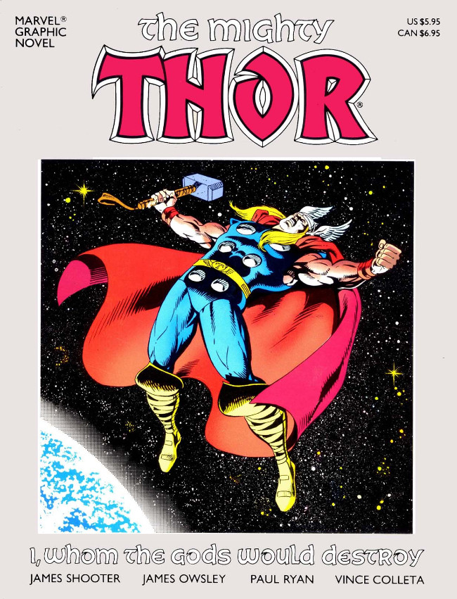 Couverture de Marvel Graphic Novel (Marvel comics - 1982) -33- The Mighty Thor: I, Whom the Gods Would Destroy