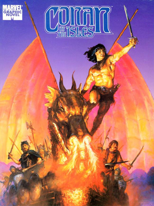 Couverture de Marvel Graphic Novel (Marvel comics - 1982) -42- Conan Of The Isles