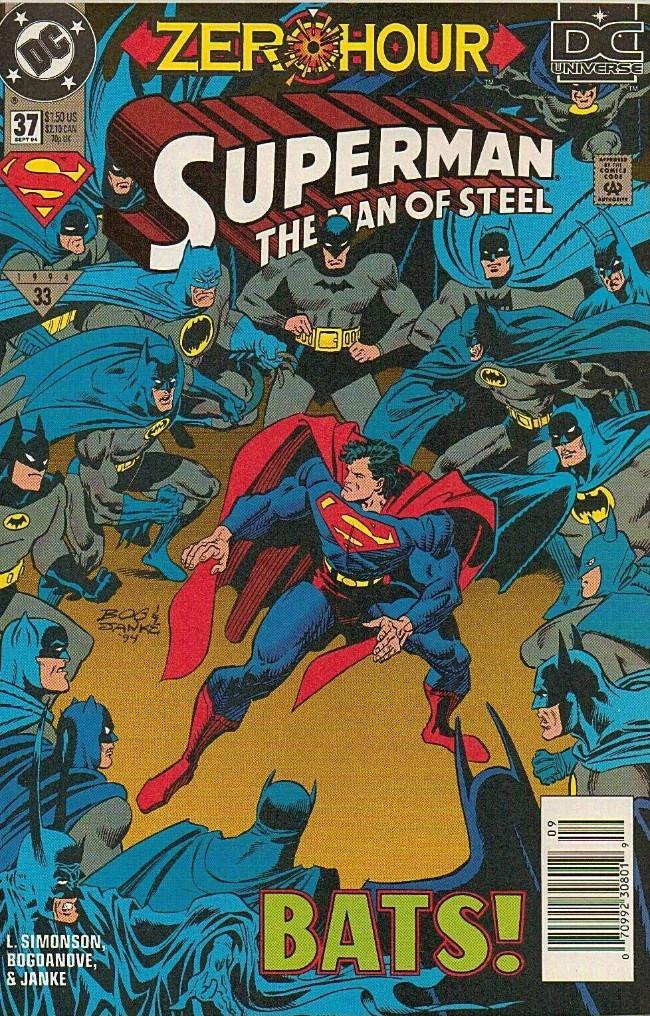 Couverture de Superman: The Man of Steel Vol.1 (DC comics - 1991) -37- BATS!